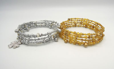 Gold and SIlver bangles