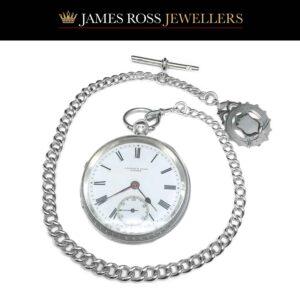 J B Dent & Sons Antique silver English pocket watch