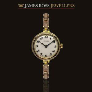9ct Gold Ladies Vintage Rolex bracelet watch circa 1928