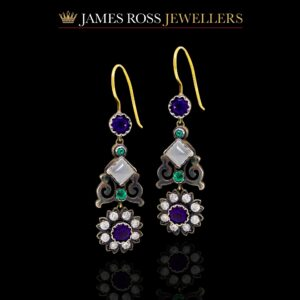 Colourful antique earrings