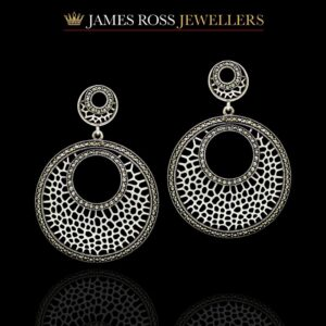 Large sterling silver marcasite earrings