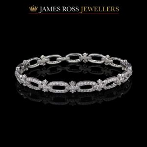 18ct white gold diamond bracelet 1.80 carats